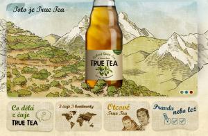 screen cap of truetea.com layout